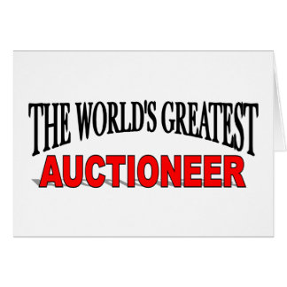 The World's Greatest Auctioneer Card