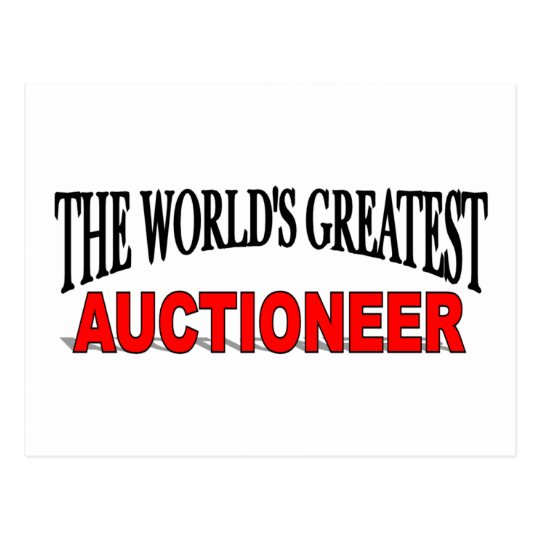 The World's Greatest Auctioneer Postcard