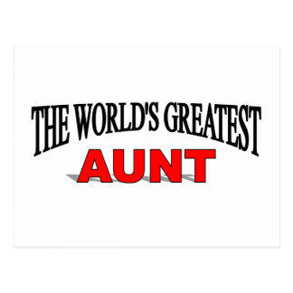 The World's Greatest Aunt Postcard