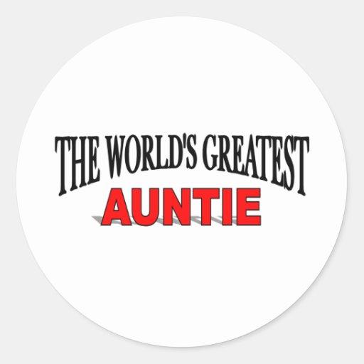 The World's Greatest Auntie Round Sticker