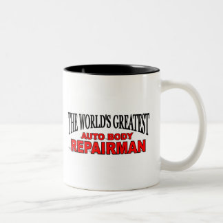 The World's Greatest Auto Body Repairman Two-Tone Coffee Mug