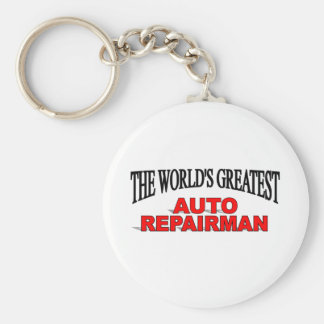 The World's Greatest Auto Repairman Basic Round Button Keychain