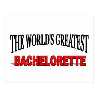 The World's Greatest Bachelorette Postcard