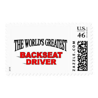 The World's Greatest Backseat Driver Stamps