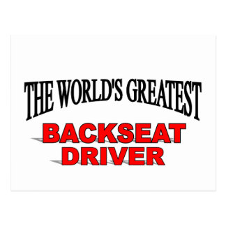The World's Greatest Backseat Driver Postcards