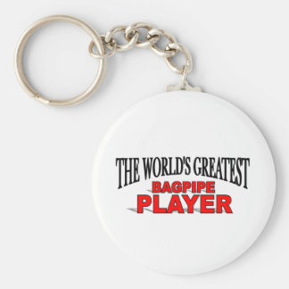 The World's Greatest Bagpipe Player Basic Round Button Keychain