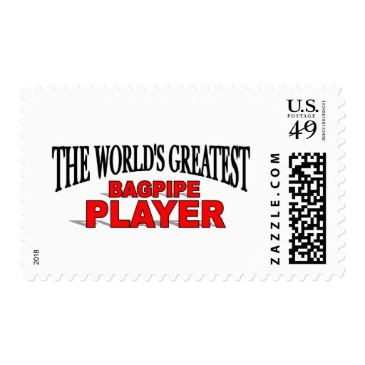 The World's Greatest Bagpipe Player Stamp