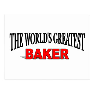 The World's Greatest Baker Postcard