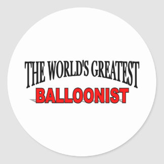 The World's Greatest Balloonist Classic Round Sticker