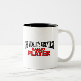 The World's Greatest Banjo Player Two-Tone Coffee Mug