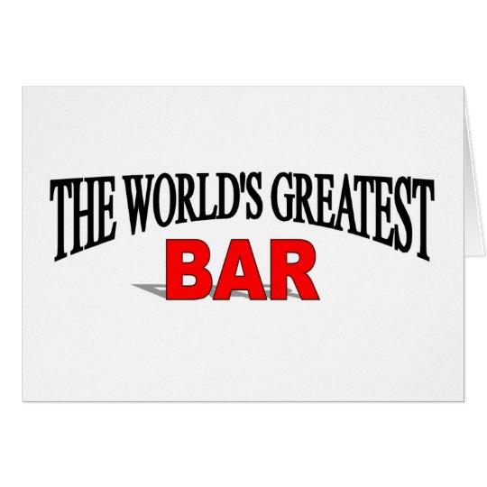 The World's Greatest Bar Card