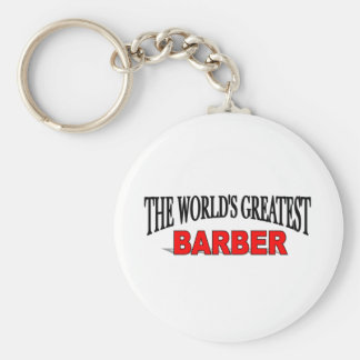 The World's Greatest Barber Keychain
