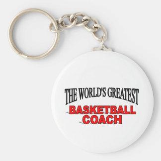 The World's Greatest Basketball Coach Keychain