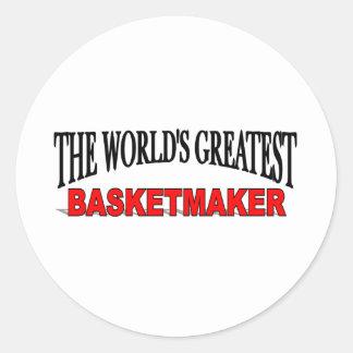 The World's Greatest Basketmaker Classic Round Sticker