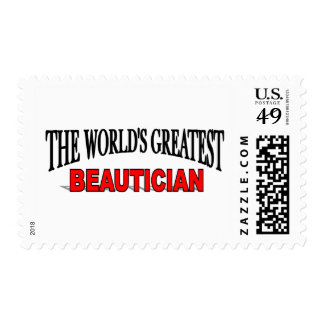 The World's Greatest Beautician Postage Stamps