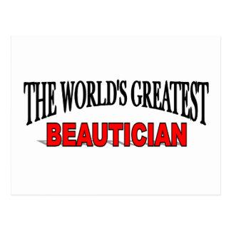 The World's Greatest Beautician Postcard