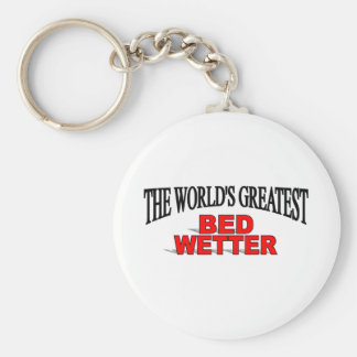 The World's Greatest Bed Wetter Basic Round Button Keychain