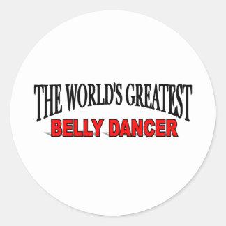 The World's Greatest Belly Dancer Classic Round Sticker