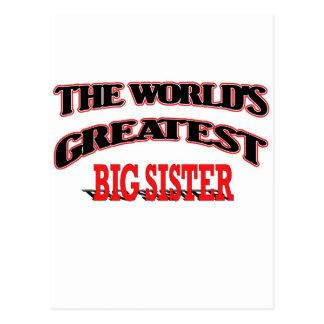 The World's Greatest Big Sister Postcard