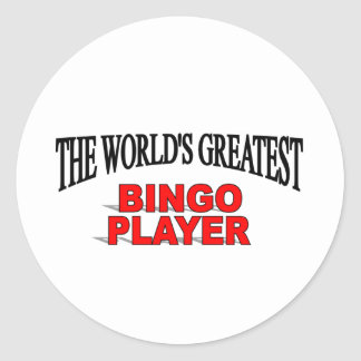 The World's Greatest Bingo Player Stickers