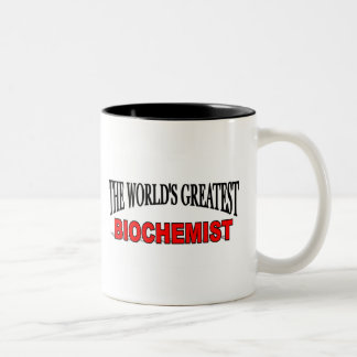 The World's Greatest Biochemist Two-Tone Coffee Mug