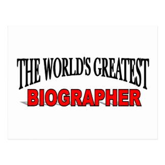 The World's Greatest Biographer Postcard