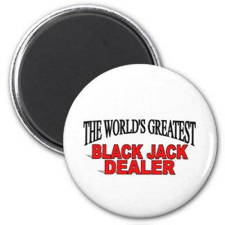 The World's Greatest Black Jack Dealer Refrigerator Magnet