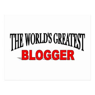 The World's Greatest Blogger Postcard