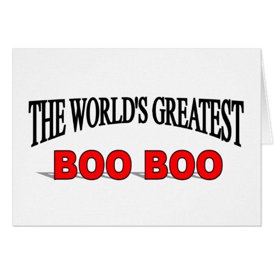 The World's Greatest Boo Boo Card