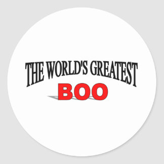The World's Greatest Boo Classic Round Sticker