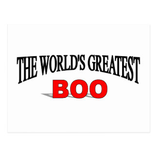 The World's Greatest Boo Postcard