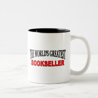 The World's Greatest Bookseller Two-Tone Coffee Mug