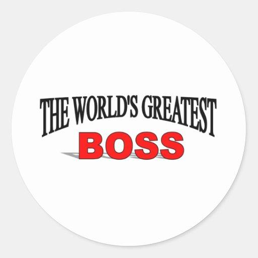 The World's Greatest Boss Classic Round Sticker