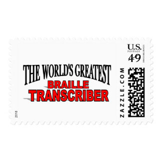 The World's Greatest Braille Transcriber Postage