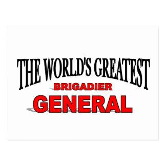 The World's Greatest Brigadier General Postcard