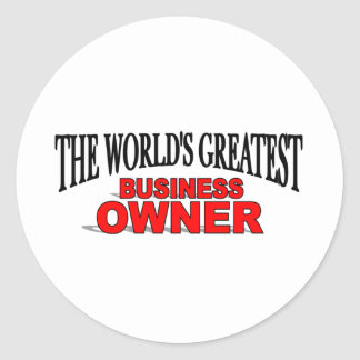 The World's Greatest Business Owner Classic Round Sticker