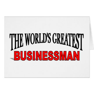 The World's Greatest Businessman Card