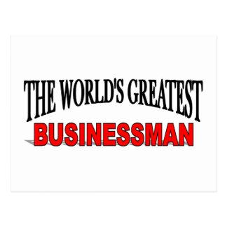 The World's Greatest Businessman Postcard
