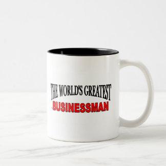 The World's Greatest Businessman Two-Tone Coffee Mug
