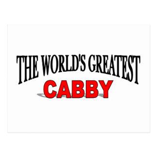 The World's Greatest Cabby Postcard