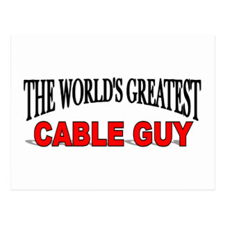 The World's Greatest Cable Guy Postcard
