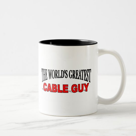The World's Greatest Cable Guy Two-Tone Coffee Mug