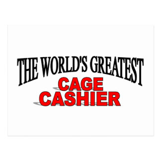 The World's Greatest Cage Cashier Postcard