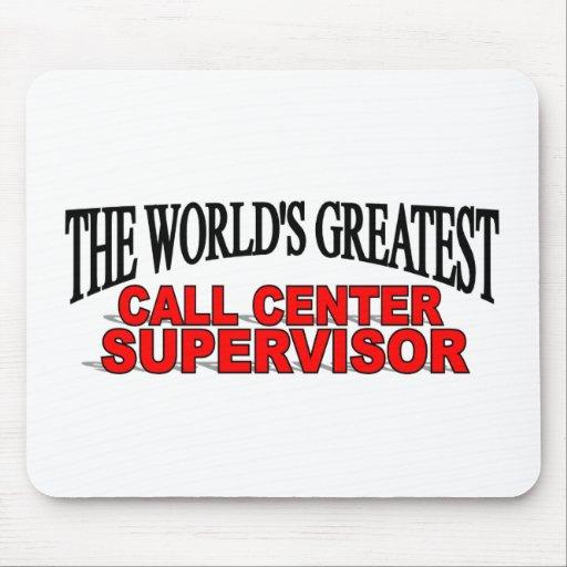 The World's Greatest Call Center Supervisor Mouse Mat