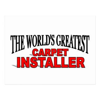 The World's Greatest Carpet Installer Postcard