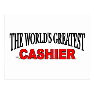 The World's Greatest Cashier Postcard