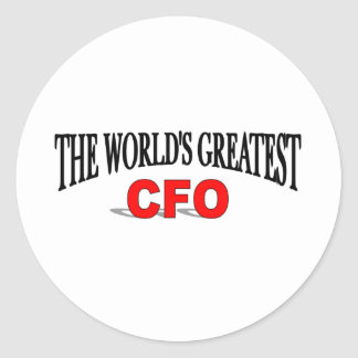 The World's Greatest CFO Classic Round Sticker