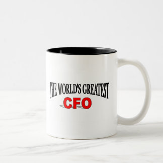 The World's Greatest CFO Two-Tone Coffee Mug