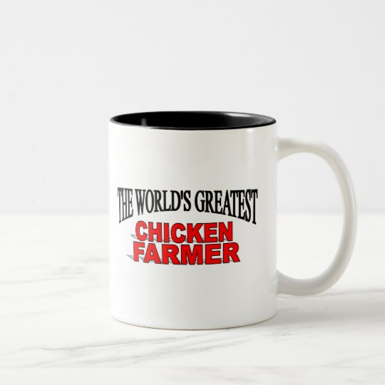 The World's Greatest Chicken Farmer Two-Tone Coffee Mug