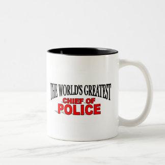 The World's Greatest Chief of Police Two-Tone Coffee Mug